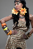 African-american fashion model. Stock Images