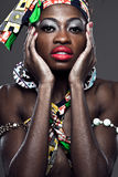 African-american fashion model. Stock Photo
