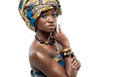 African-american fashion model. Stock Photos