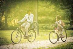 Family on bike. royalty free stock photo