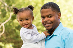 African American father and daughter Royalty Free Stock Photography