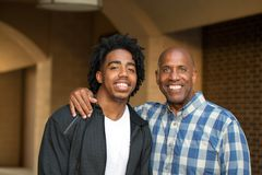 African American father and his adult son. Royalty Free Stock Photos