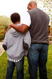 African American father parenting his son. Stock Photography
