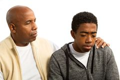 African American father and son. Portrait of an African American father and son Stock Photo