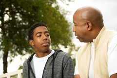 African American father and son. Portrait of an African American father and son Stock Photography