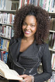 African American Female With A Book Royalty Free Stock Images