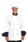 African american female chef Stock Image