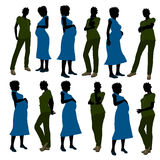 African American Female Doctor Silhouette Royalty Free Stock Photo