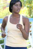 African-American Female Exercising, Running Royalty Free Stock Photography