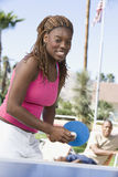 African American Female Playing Table Tennis Royalty Free Stock Photos
