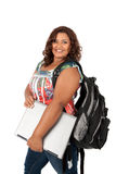 African American Female Student Standing Stock Images