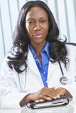 African American Female Woman Doctor Stock Photo
