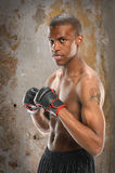 African American Fighter Stock Image