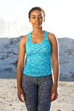 African american fitness woman standing outside Royalty Free Stock Photography