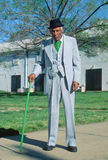 An African-American gentleman on his morning walk, Richmond, VA Royalty Free Stock Photography