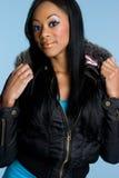 African American Girl. Beautiful african american winter girl Stock Image