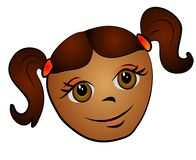 African American Girl Clip Art Royalty Free Stock Images