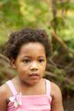 African-American girl in a creek. Stock Image