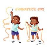 African american girl doing gymnastics Stock Photography