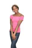 african american girl half length portrait Στοκ Φωτογραφία