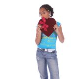 African American Girl Holding stock images