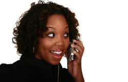 African American Girl On The Phone Stock Photography