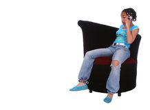 African American Girl Talking Stock Images