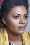 African american girl wearing light natural make-up Stock Photography