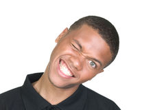 African American Goofy Portrait Royalty Free Stock Image
