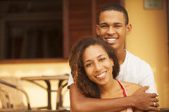 African american happy couple Royalty Free Stock Images