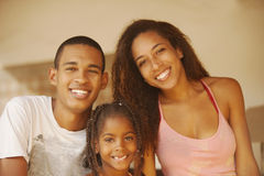 African american happy family Stock Photography