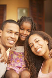 African american happy family Stock Image
