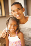African american happy father and daughter Stock Images