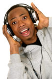 African American headset Stock Photography