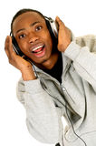 African American headset Royalty Free Stock Images