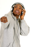 African American headset Stock Image
