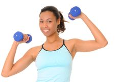 African American Health and Fitness Girl Royalty Free Stock Photos
