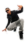 African American Hip Hop Dancer. Over white background Royalty Free Stock Photo