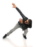 African American Hip Hop Dancer. Performing isolated over white background Stock Photography