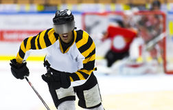 African-American hockey player Stock Image