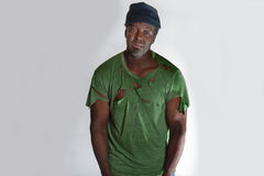 African American homeless man Stock Photo