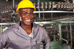 African american industrial worker Royalty Free Stock Photography