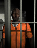 African American Jail Prison Illustration. Illustration of a black male African American in jail cell or prison. Black Americans incarcerated in the justice Stock Image