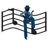 African American Jazz Musician Illustration Royalty Free Stock Photography