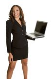 African American Laptop Woman Royalty Free Stock Image