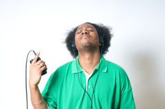 African American listen to music Royalty Free Stock Photography