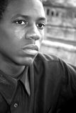 African American Male. An african american male looking into the distance Stock Photos