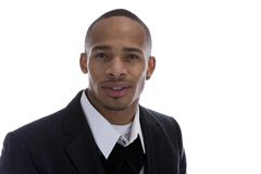 African American Male in Business suit Stock Photo