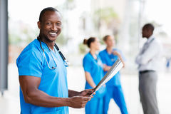African american male doctor Stock Image