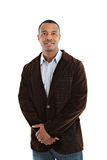 African American Male Model on Isolated Background Royalty Free Stock Image